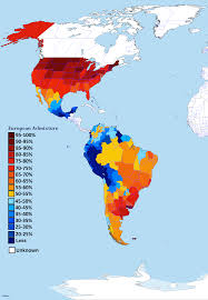 Map Americas by European Admixture Of European Dna In The Americas By