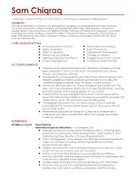 art resume examples performing arts resume template resume sample resume for professional show director templates to showcase your talent performing arts resume template