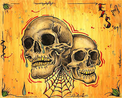 laugh now cry later skullz by ericscsavnickitattoo on deviantart