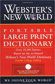 large print books for elderly webster s new world portable large print dictionary