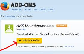 add on apk apps from play with a browser extension