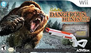 Cabelas Dog Bed Amazon Com Cabela U0027s Dangerous Hunts 2013 With Gun Nintendo Wii