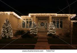 Luxury Homes Decorated For Christmas House Christmas Decoration Facade Stock Images Royalty Free