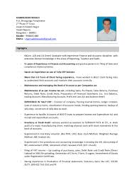 Tally Resume Sample by Shamsuddin Noolvi Finance And Accounts