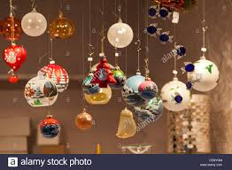 decorative baubles hanging on display stock photo