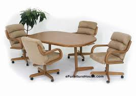 kitchen table with caster chairs dining caster chairs kitchen tables and more blog throughout on