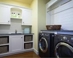 Laundry Room Decorating Ideas by Spacious Laundry Room Decor Ideas With Well Turned Wooden Cabinets