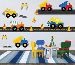 Boy Nursery Wall Decals Truck Decal Construction Wall Decal Dump Truck Decal