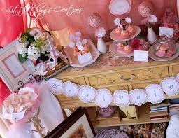 vintage shabby chic bridal wedding shower party ideas photo 8 of