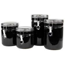 kitchen canister sets stainless steel kitchen canisters jars ceramic the home depot