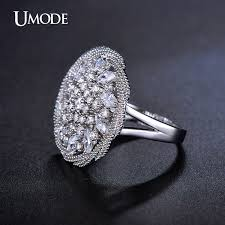 flat engagement rings aliexpress buy umode big flat blossom flower vintage