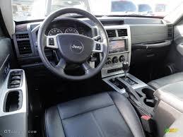 dark slate gray mckinley leather interior 2009 jeep liberty