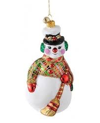 jinglenog unique handmade european glass snowmen ornaments