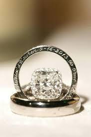 Personalized Wedding Band Engraved Wedding Band Vintage Engraved Round Diamond Wedding Band