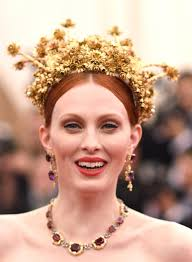 gold headpiece the most elaborate headpieces from the 2015 met gala huffpost