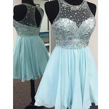 short tiffany blue sparkly cute freshman cocktail homecoming prom