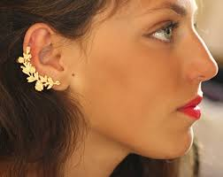 what is ear cuff nor ear cuff flower earrings gold floral ear cuff nature