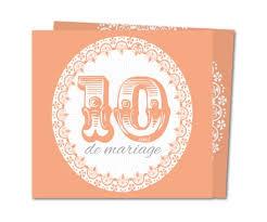 anniversaire mariage 10 ans carte anniversaire de mariage 10 ans d élégance planet cards