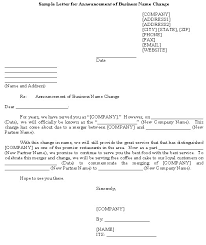business name change letter example of business name change