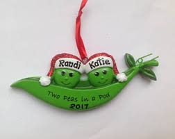 two peas in a pod christmas ornament vegetable ornament etsy