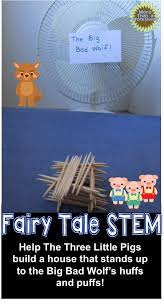 Toothpick House Fairy Tale Stem Three Little Pigs Build A Toothpick House