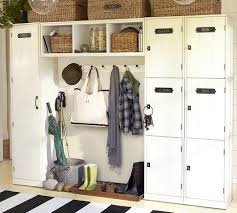 entryway backpack storage family locker entryway system pottery barn