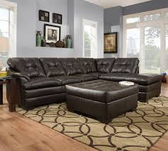 Simmons Upholstery Furniture Simmons Upholstery 5122 Transitional Sectional Sofa With Tufted