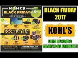 kohls black friday ad 2017 kohl s galore
