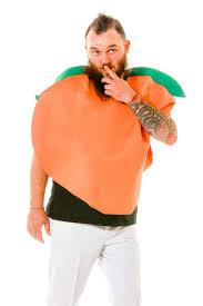 Peach Halloween Costume Peach Halloween Emoji Costume Prideful Peach Men U0027s Costume