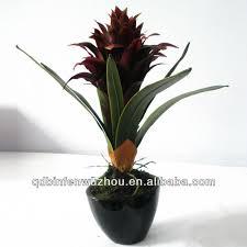 Silk Flower Plants - artificial silk potted pineapple flowers plants artificial silk