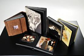 engraved wedding albums custom made linen wedding photo album and book with solid