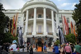event city halloween uncsa lights up white house for halloween event state region