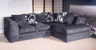 Jackson Grey Chenille Fabric Corner Sofa - Cornor sofas