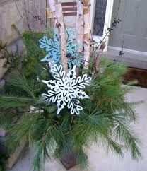 solar snowflake tree outdoor decoration