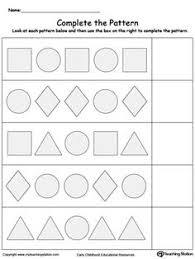 what shape comes next printable worksheets worksheets and shape