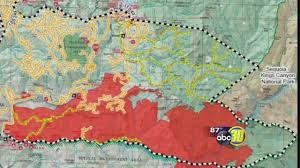 Wildfire Map Rough Fire Information Burning Near Hume Lake And Kings Canyon