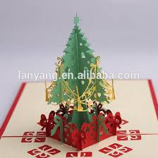 3d christmas cards creative paper cutting 3d christmas tree merry christmas greeting