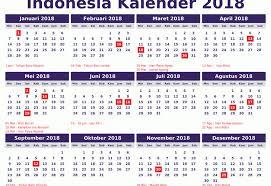 Kalender 2018 Hari Libur Indonesia Kalender Libur 2018 Kabar News