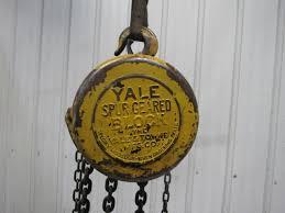yale model b b spur gear 1 ton manual chain fall hoist 8 u0027 lift