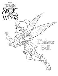 kids fun 15 coloring pages tinkerbell secret wings