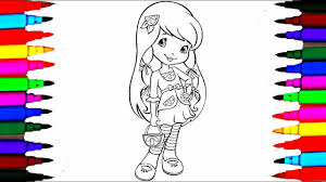 how to draw strawberry shortcake lemon meringue coloring pages l
