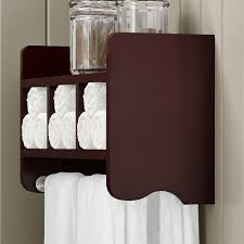 Bar Wall Shelves by Bathroom Storage Cubby U0026 Towel Bar Wall Shelf