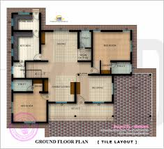 square house floor plans floor plan and elevation of 2350 square feet house indian house