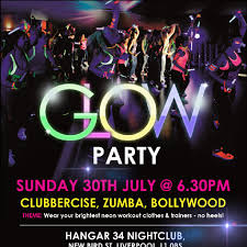 glow party fitness glow party tickets hangar 34 liverpool sun 4th