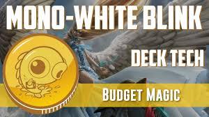 budget magic 97 67 tix modern mono white blink deck tech