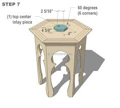 Moroccan Side Table Remodelaholic Hexagonal Moroccan Side Table Plans