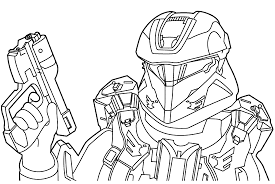 14 Halo Coloring Pages Printable Print Color Craft Color Ins