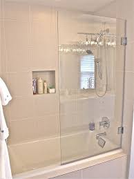 Half Shower Doors Furniture Half Glass Shower Door For Bathtub Half Glass Shower