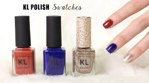 kl polish live swatches pale skin lucykiins youtube
