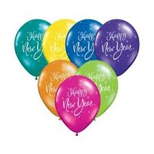 happy new year balloon printed balloons happy new year assorted qualatex 31863